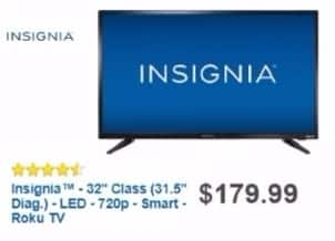"Best Buy Weekly Ad: 32"" Class LED 720p Smart HDTV (Roku TV) for $139.99"