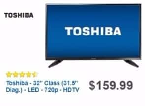 """Best Buy Weekly Ad: Toshiba 32"""" Class LED 720p HDTV for $129.99"""