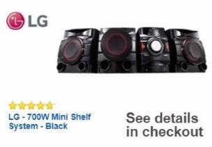 Best Buy Weekly Ad: LG 700W Mini Shelf System for $189.99