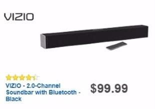 Best Buy Weekly Ad: Vizio 2.0-Ch. Soundbar for $89.99