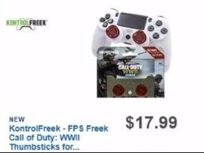 Best Buy Weekly Ad: KontrolFreek FPS FREEK Call of Duty: WWII Thumbsticks for PlayStation4 for $17.99