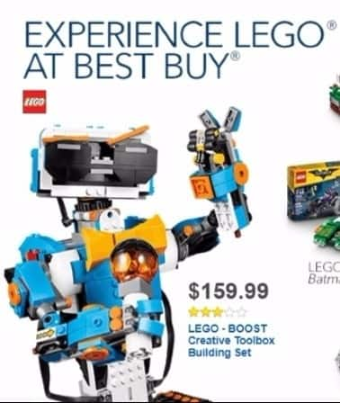 Best Buy Weekly Ad: LEGO BOOST Creative Toolbox Building Set for $159.99