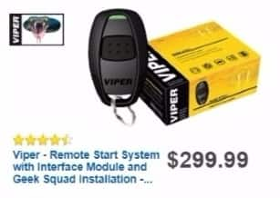 Best Buy Weekly Ad: Viper Remote Start System with Interface Module and Geek Squad Installation for $199.99