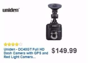 Best Buy Weekly Ad: Uniden DC40GT Full HD Dash Cam for $129.99