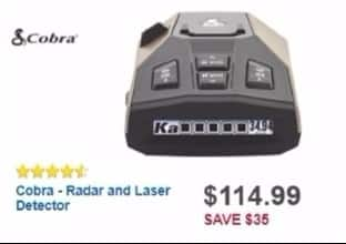 Best Buy Weekly Ad: Cobra Radar and Laser Detector for $99.99