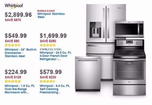 Best Buy Weekly Ad: Whirlpool 5-Cycle Dishwasher with Adjustable Upper Rack for $549.99