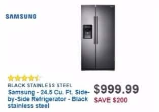 Best Buy Weekly Ad: 24.5 cu. ft. Side-by-Side Refrigerator for $999.99
