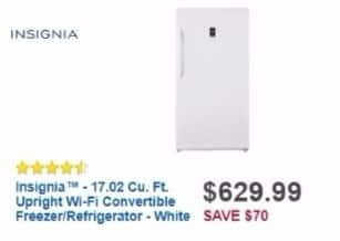 Best Buy Weekly Ad: 17.02 cu. ft. Upright Convertible Freezer/Refrigerator for $599.99