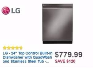 Best Buy Weekly Ad: LG 9-Cycle Dishwasher with QuadWash for $819.99