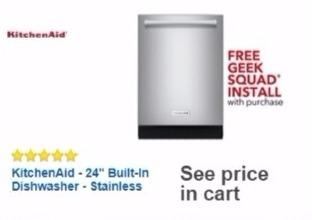 Best Buy Weekly Ad: KitchenAid 5-Cycle Dishwasher with ProWash for $809.99