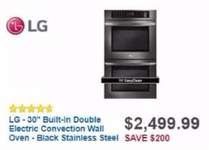 "Best Buy Weekly Ad: LG 30"" Built-in Double Electric Convection Wall Oven for $2,499.99"