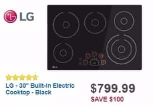 "Best Buy Weekly Ad: LG 30"" Built-in Electric Cooktop for $799.99"