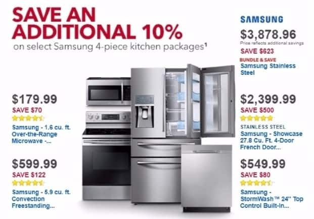 Best Buy Weekly Ad: Samsung Dishwasher with StormWash and AutoRelease Door for $629.99