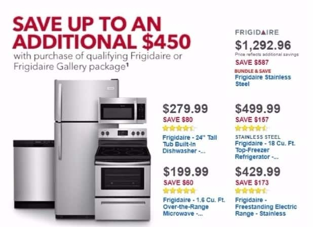 Best Buy Weekly Ad: Frigidaire 18 Cu. Ft. Top-Freezer Refrigerator for $499.99