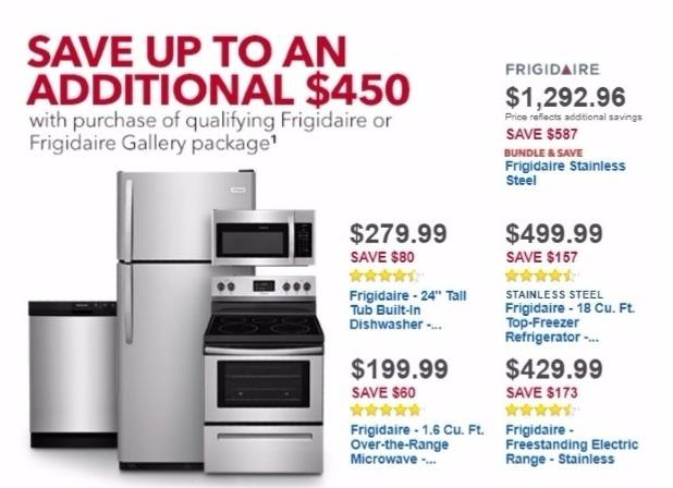 Best Buy Weekly Ad: Frigidaire 18 Cu. Ft. Top-Freezer Refrigerator for $499.99