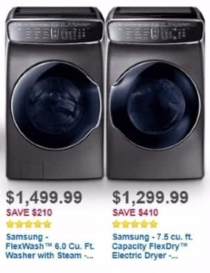 Best Buy Weekly Ad: Samsung 7.5 Cu. Ft. FlexDry  electric dryer for $1,299.99