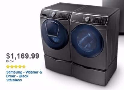 Best Buy Weekly Ad: Samsung 7.5 cu. ft. 14-Cycle High-Efficiency Electric Dryer with Steam for $1,169.99