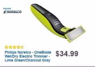 Best Buy Weekly Ad: Philips Norelco OneBlade Trimmer for $29.99