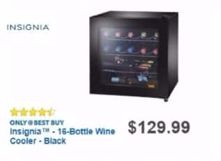 Best Buy Weekly Ad: Insignia 16-Bottle Wine Cooler for $99.99