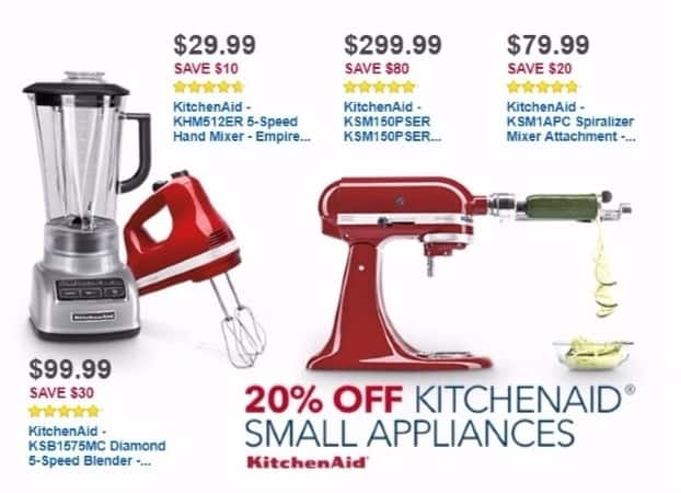 Best Buy Weekly Ad: KitchenAid Artisan Series Tilt-Head Stand Mixer - Empire Red for $299.99