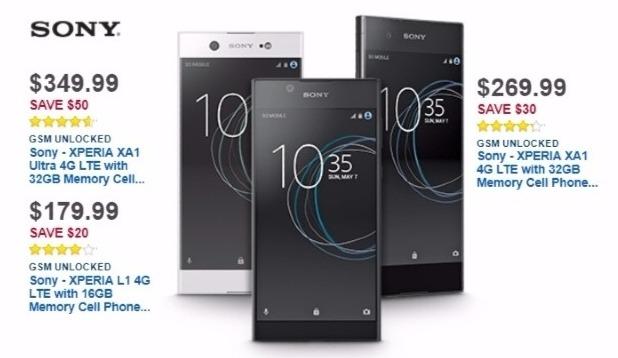 Best Buy Weekly Ad: Unlocked Sony Xperia XA1 for $269.99