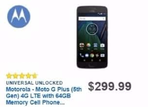 Best Buy Weekly Ad: Unlocked Moto G Plus (5th Gen) for $299.99