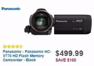 Best Buy Weekly Ad: HC-V770 HD Flash Memory Camcorder for $499.99