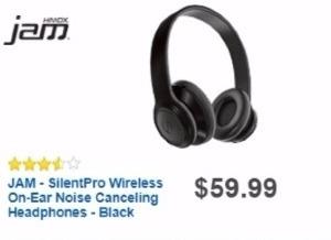 Best Buy Weekly Ad: JAM - SilentPro Wireless On-Ear Noise Cancelling Headphones for $49.99