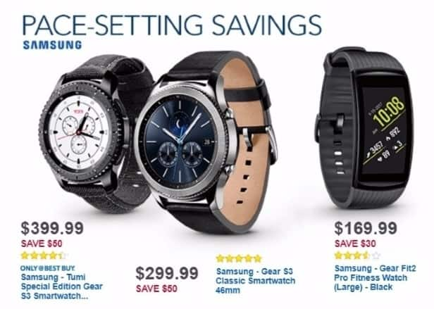 Best Buy Weekly Ad: Samsung Gear S3 classic for $299.99