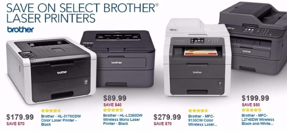 Best Buy Weekly Ad: Brother HL-L2360DW Wireless Laser Printer for $89.99