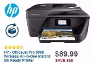 Best Buy Weekly Ad: HP OfficeJet Pro 6968 Wireless Printer for $89.99