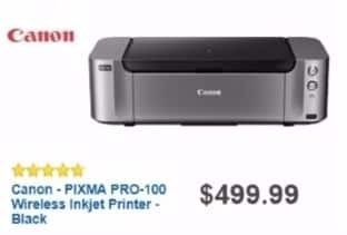 Best Buy Weekly Ad: Canon PIXMA PRO-100 Wireless Printer for $429.99