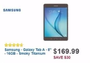 Best Buy Weekly Ad: Samsung Galaxy Tab A 8.0 for $169.99
