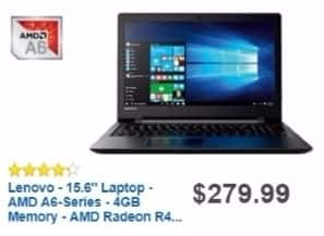 Best Buy Weekly Ad: Lenovo Laptop with AMD A6 Processor for $229.99