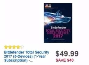 Best Buy Weekly Ad: Bitdefender Total Security Multi-Device for $49.99