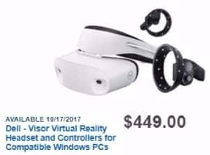 Best Buy Weekly Ad: Dell Visor Windows Mixed Reality Headset for $449.00