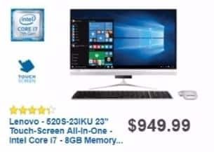Best Buy Weekly Ad: Lenovo All-in-One Computer with Intel Core i7 Processor for $899.99