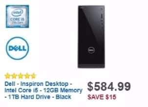 Best Buy Weekly Ad: Dell Desktop with Intel Core i5 Processor for $549.99