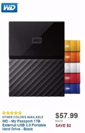 Best Buy Weekly Ad: My Passport 1TB Portable Hard Drive for $59.99