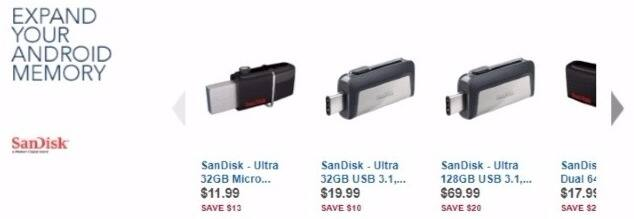 Best Buy Weekly Ad: SanDisk 32GB Ultra Dual USB Drive 3.0 for $11.99