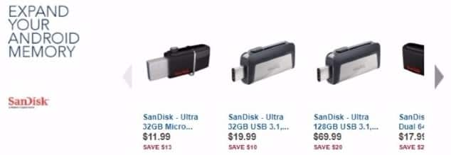 Best Buy Weekly Ad: SanDisk 128GB Ultra Dual Drive USB Type C for $69.99