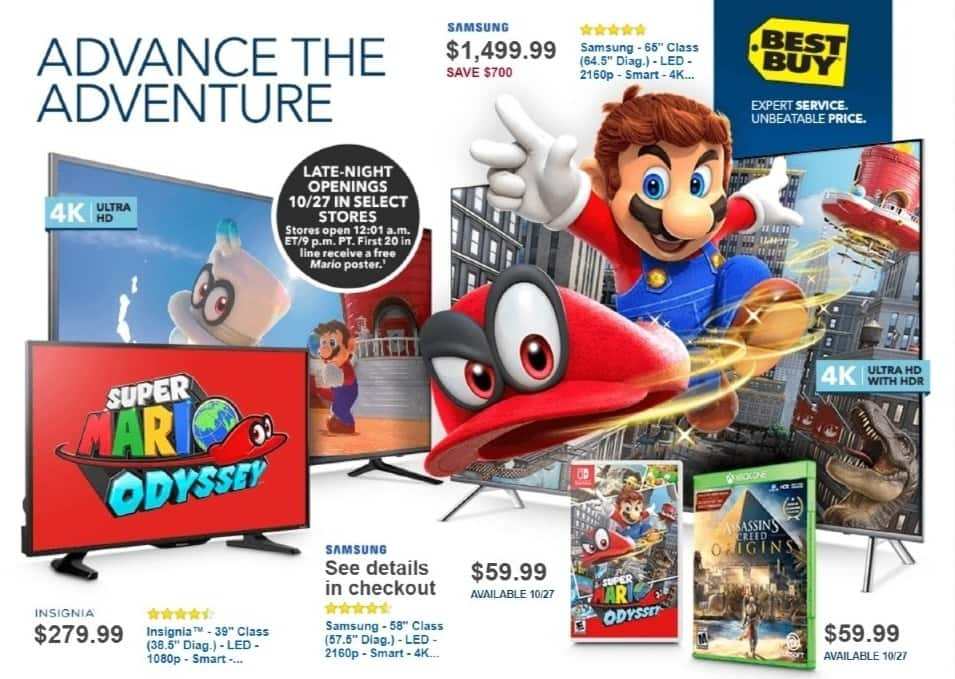 Best Buy Weekly Ad: Super Mario Odyssey - Nintendo Switch for $59.99