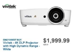 Best Buy Weekly Ad: Vivitek HK2288 Ultra HD 4K Home Cinema for $1,999.99