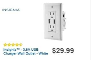 Best Buy Weekly Ad: Insignia 3.6A USB Charger Wall Outlet for $16.99