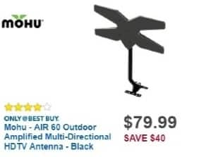 Best Buy Weekly Ad: Mohu AIR 60 Outdoor Amplified Multi-Directional HDTV Antenna for $79.99