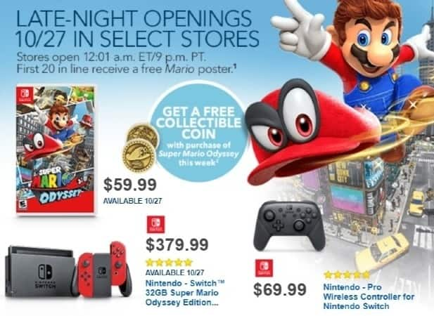 Best Buy Weekly Ad: Super Mario Odyssey - NS for $59.99