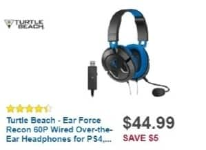 Best Buy Weekly Ad: Turtle Beach EAR FORCE Recon 60P Over-the-Ear Gaming Headset for $44.99