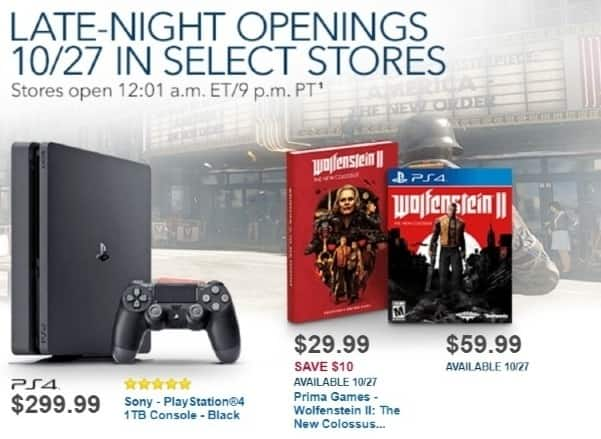 Best Buy Weekly Ad: Wolfenstein PS4/XB1 for $59.99