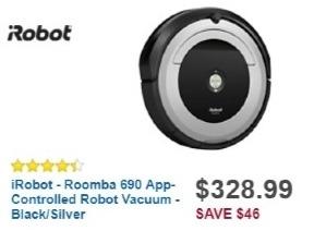 Best Buy Weekly Ad: iRobot Roomba 690 Robotic Vacuum for $324.99
