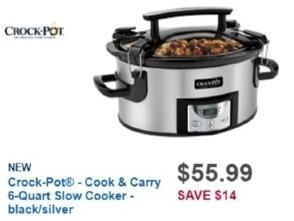 Best Buy Weekly Ad: Crock-Pot 6-Quart Handled Slow Cooker for $55.99